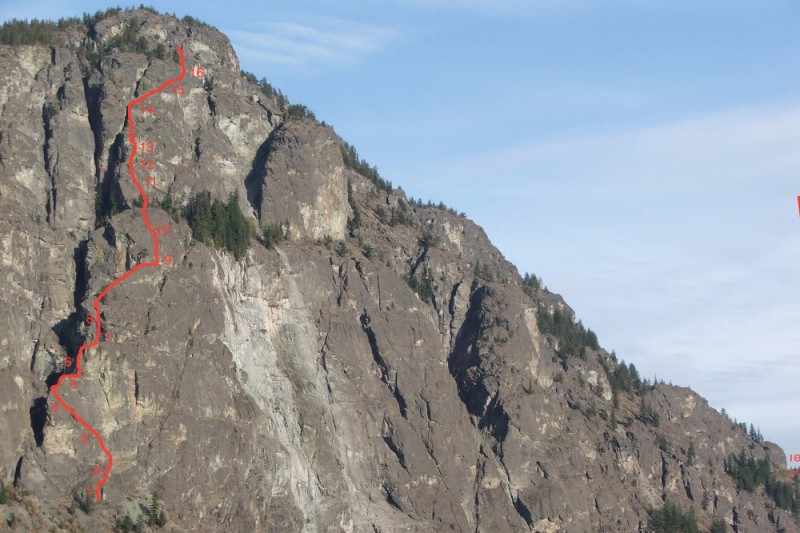 3d8b92d5f18 Fundraiser by Jerry Daniels   New 18 Pitch climb in Mazama Wa