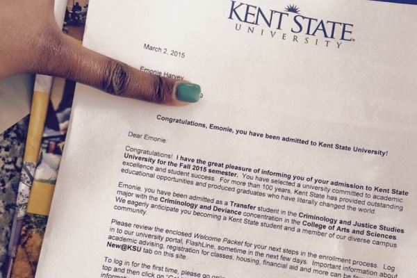 Fundraiser by emonie harvey kent state university tuition for Kent university cover letter