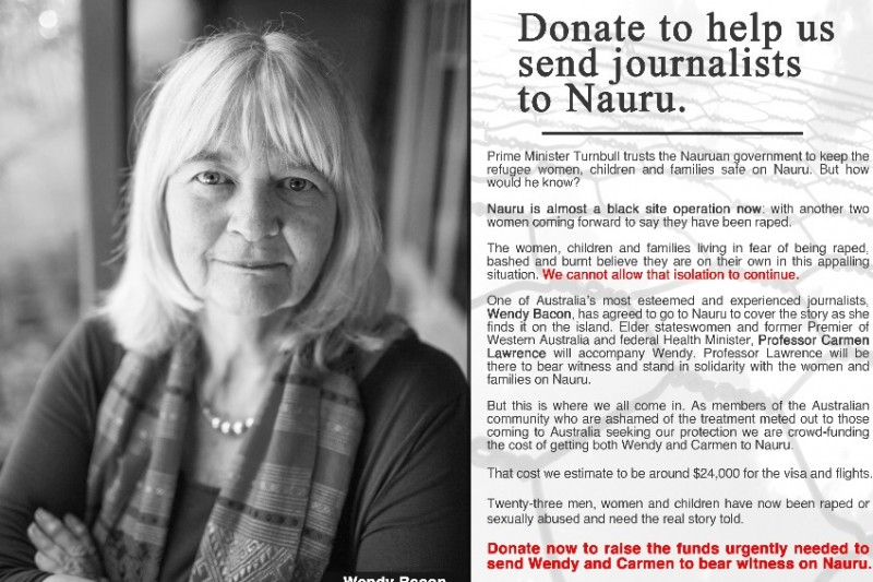 Click here to support Getting journalists to Nauru by Luisa Low