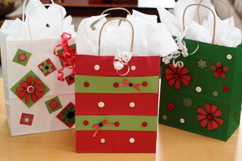 Christmas gift bags decorating ideas