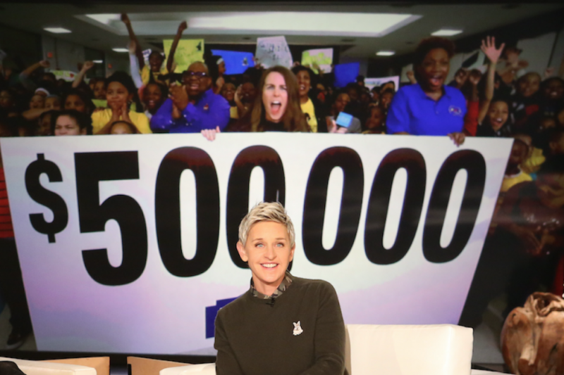 Ellen tv show giveaways for college students